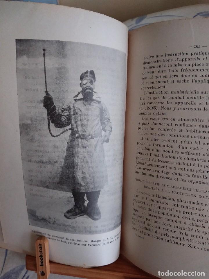 Libros antiguos: Libro muy raro sobre la Guerra Química en las poblaciones civiles. 1932. En francés.Con fotografías. - Foto 5 - 122540695