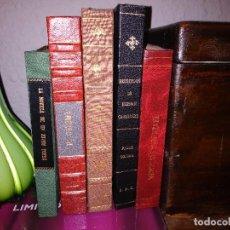 Libros antiguos: LOTE DE LIBROS ANTIGUOS CON ENCUADERNACIÓN DE LUJO.. Lote 122542299