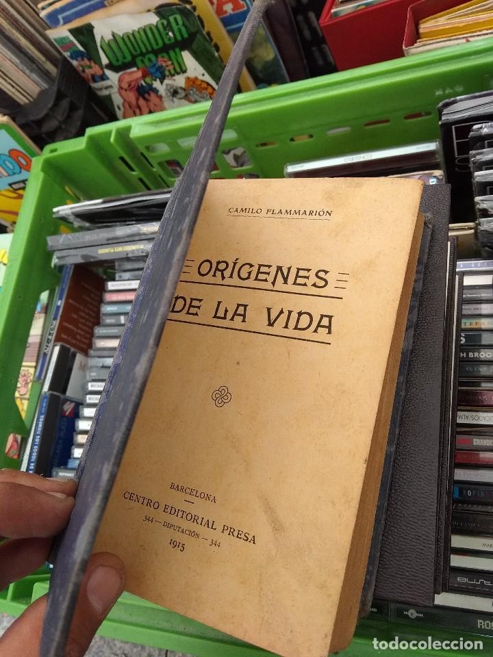 Libros antiguos: Orígenes de la vida Camilo flammarion editorial presa 1915 - Foto 2 - 122670503