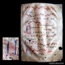 Libros antiguos: AÑO 1440 MANUSCRITO ILUMINADO MEDIEVAL PERGAMINO ENORME FOLIO DE CANTORAL DEL SIGLO XV ORIGINAL. Lote 103290371