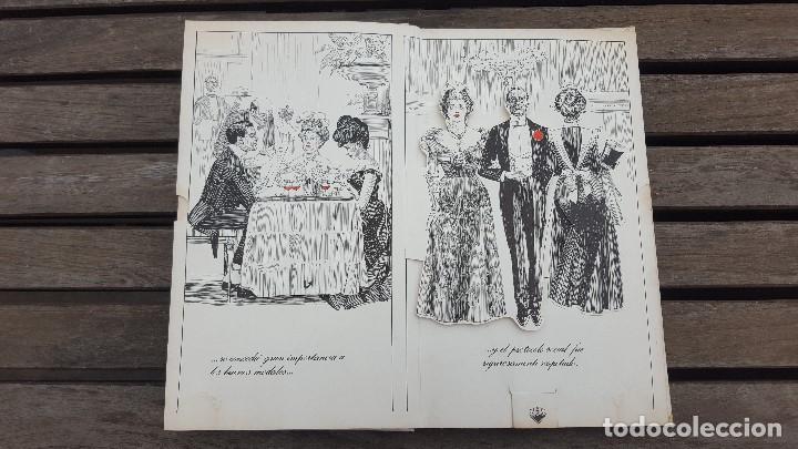 Libros antiguos: LIBRO PÍCARO FIN DE SIGLO EDITORIAL MONTENA + MOSTRADOR DE CARTÓN CON 10 MINI LIBROS TODOS IGUALES - Foto 5 - 122696411