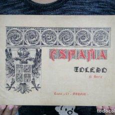 Libros antiguos: TUBAL 1900? TOLEDO 10 LAMINAS PINTOR HASTOY CASTEL Y CIA 33 CM PLANO 400 GRS . Lote 122767235