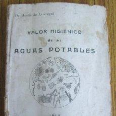 Libros antiguos: VALOR HIGIENICO DE LAS AGUAS POTABLES - ED. MANUEL FUENTES – BILBAO 1916- ILUSTRACIONES A B/N. Lote 122830843