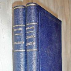 Libros antiguos: DOS LIBROS BALZAC DE 1.876 - EN FRANCÉS - JEAN-LOUIS Y L´ISRAÉLITE. Lote 122940703