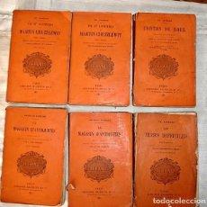 Libros antiguos: 6 LIBROS DICKENS AÑOS 1896, 1898, 1900 Y 1901 - IDIOMA FRANCÉS. Lote 122946243