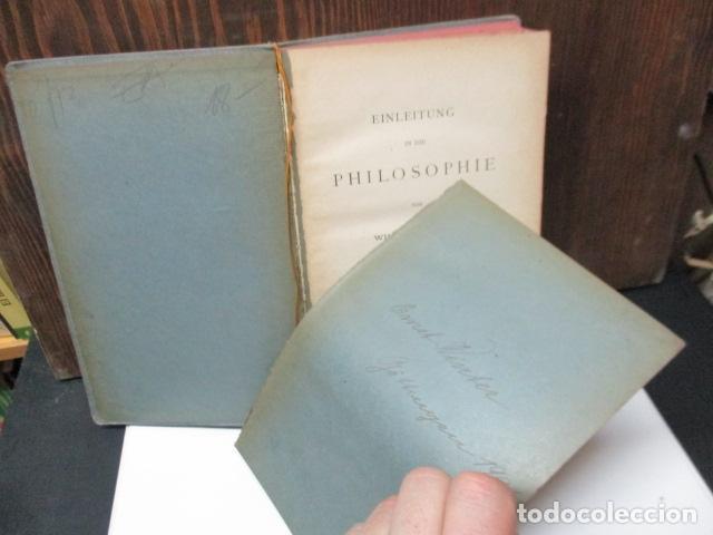 Libros antiguos: EINLEITUNG IN DIE PHILOSOPHIE - WILHEM WUNDT - LEIPZIG, AÑO 1901(EN ALEMAN) - Foto 8 - 122947679