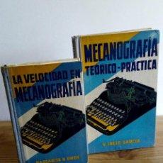 Libros antiguos: LOTE. MECANOGRAFÍA TEÓRICO-PRACTICO. (1929) LA VELOCIDAD EN MECANOGRAFÍA (1928). GUSTAVO GILI.. Lote 122967479