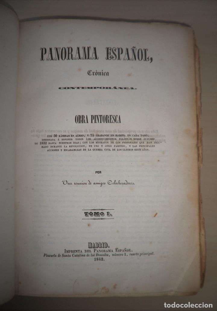 Libros antiguos: GUERRAS CARLISTAS - PANORAMA ESPAÑOL AÑO 1842 - BELLOS GRABADOS. - Foto 2 - 122988639