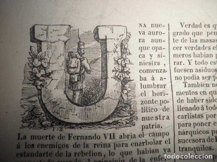Libros antiguos: GUERRAS CARLISTAS - PANORAMA ESPAÑOL AÑO 1842 - BELLOS GRABADOS. - Foto 8 - 122988639
