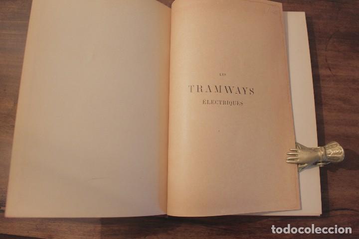 Libros antiguos: Les Tramways Electriques - Marechal. 1897. Primera edición - Foto 4 - 123074787