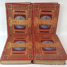 Libros antiguos: EL MUNDO ILUSTRADO. 4 TOMOS. BIBLIOTECA DE ESPASA HERMANOS. BARCELONA. 1879/1881.. Lote 123111291