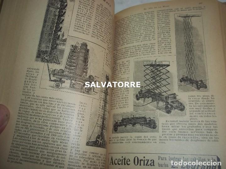 Libros antiguos: EL AÑO EN LA MANO.ALMANAQUE DE VIDA PRACTICA.1908.BARCELONA.MUCHA PUBLICIDAD. - Foto 4 - 123221987