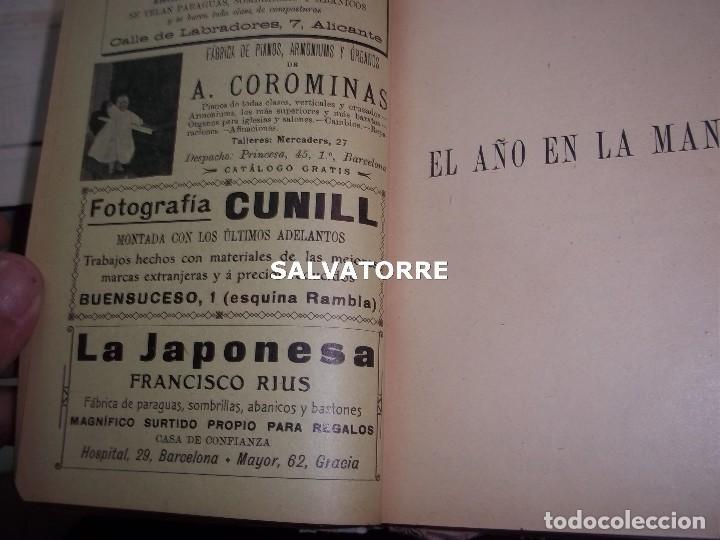 Libros antiguos: EL AÑO EN LA MANO.ALMANAQUE DE VIDA PRACTICA.1908.BARCELONA.MUCHA PUBLICIDAD. - Foto 7 - 123221987