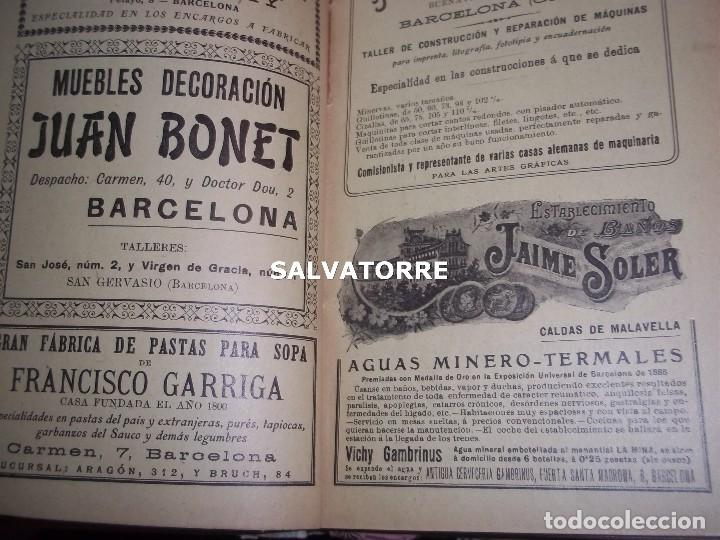 Libros antiguos: EL AÑO EN LA MANO.ALMANAQUE DE VIDA PRACTICA.1908.BARCELONA.MUCHA PUBLICIDAD. - Foto 8 - 123221987