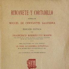 Libros antiguos: RINCONETE Y CORTADILLO. - CERVANTES SAAVEDRA, MIGUEL DE. MADRID, 1920.. Lote 123174652