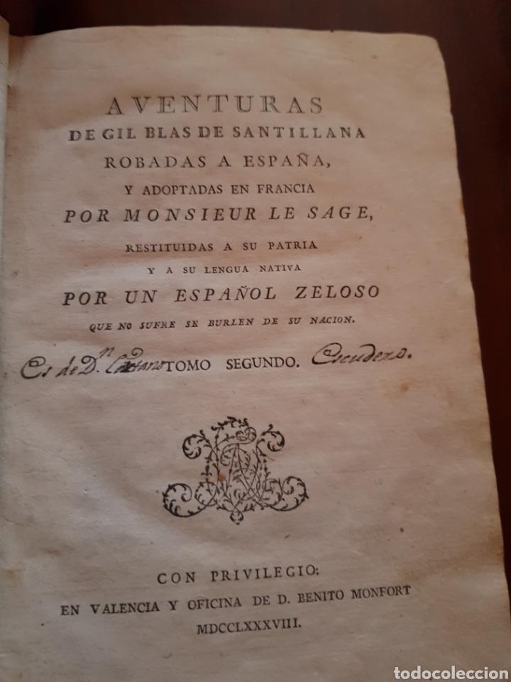 1791 AVENTURAS DE GIL BLAS DE SANTILLANA (Libros Antiguos, Raros y Curiosos - Literatura - Otros)