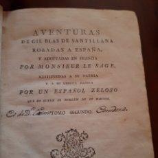 Libros antiguos: 1791 AVENTURAS DE GIL BLAS DE SANTILLANA. Lote 123504828