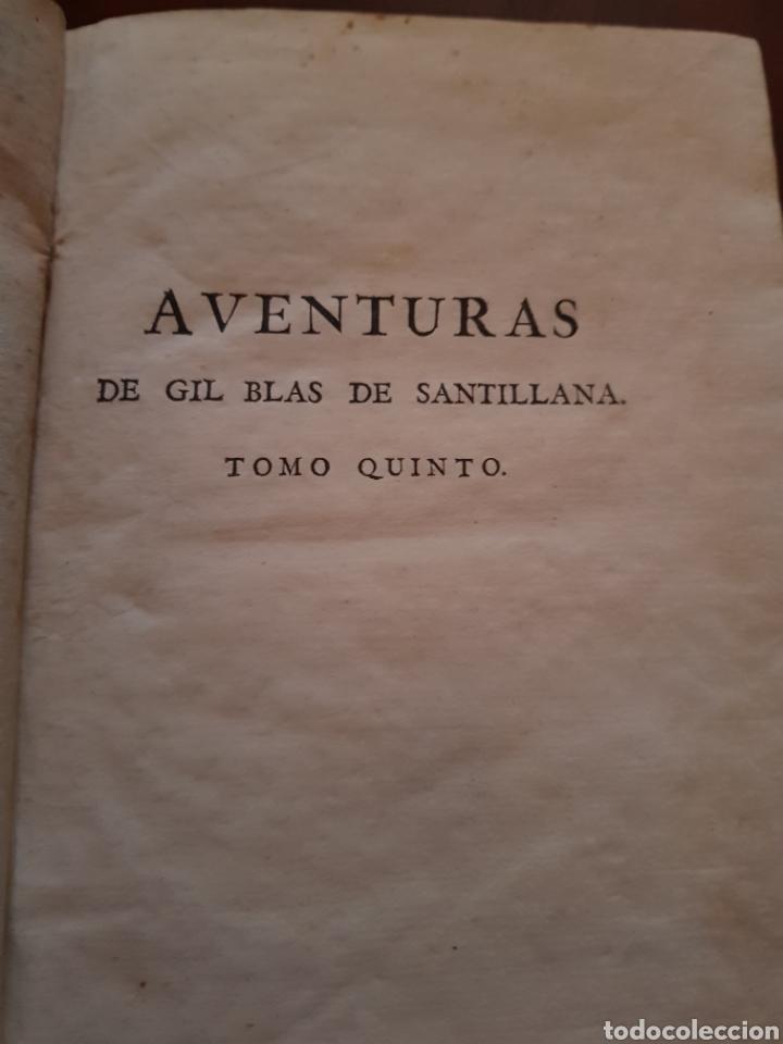 Libros antiguos: 1791 aventuras de Gil Blas de Santillana - Foto 4 - 123505260