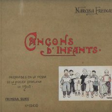 Libros antiguos: CANÇONS D' INFANTS / N. FREIXAS; IL. TORNÉ ESQUIUS. BCN : HENRICH, 19??. 10NA ED. 23X27CM. 30 P.. Lote 123559591