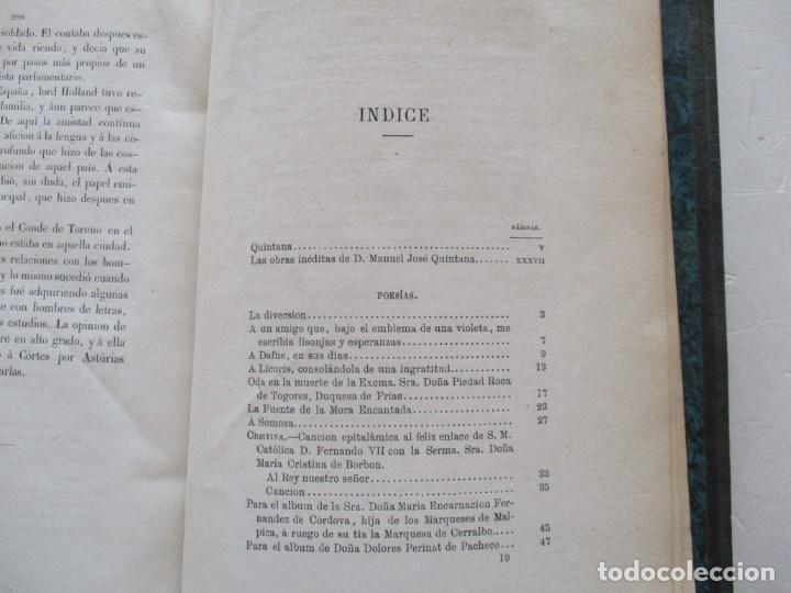 Libros antiguos: DON MANUEL JOSÉ QUINTANA Obras Inéditas. RM86619 - Foto 3 - 123593799