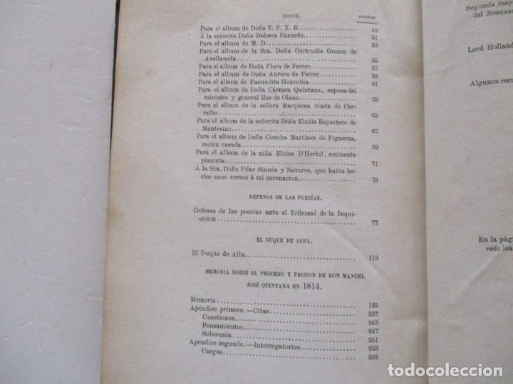 Libros antiguos: DON MANUEL JOSÉ QUINTANA Obras Inéditas. RM86619 - Foto 4 - 123593799