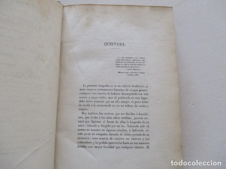 Libros antiguos: DON MANUEL JOSÉ QUINTANA Obras Inéditas. RM86619 - Foto 6 - 123593799