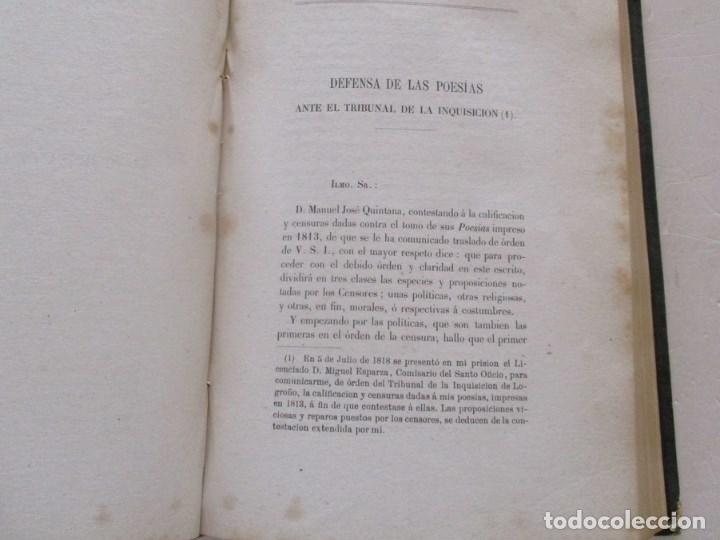 Libros antiguos: DON MANUEL JOSÉ QUINTANA Obras Inéditas. RM86619 - Foto 8 - 123593799