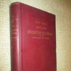 Libros antiguos: PRODUCTION ET DISTRIBUTION DE L´ÉNERGIE POUR LA TRACTION ÉLECTRIQUE HENRY MARTIN TRANVÍA FERROCARRIL. Lote 123640931