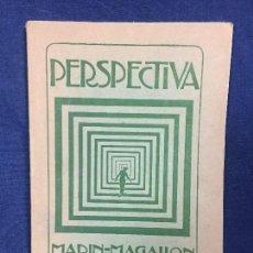 Libros antiguos: PERSPECTIVA MANUEL MARÍN MAGALLÓN PROFESOR ESCUELA PINTURA ESCULTURA GRABADO MADRID 1924. Lote 123965767