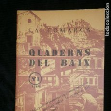 Libros antiguos: F1 LA COMARCA QUADERNS DEL BAIX LLOBREGAT Nº 1 - 1984 AJUNTAMENT DEL HOSPITALET. Lote 124007035