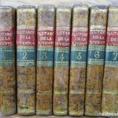 Libros antiguos: EL PLUTARCO DE LA JUVENTUD, O COMPENDIO DE LAS VIDAS DE LOS...BLANCHARD, PEDRO. 1804. 7 VOLS.. Lote 123165000