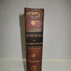 Libros antiguos: MEMORIAL DE INGENIEROS. MEMORIAS, ARTICULOS Y NOTICIAS INTRESANTES ... 1851. 6 OBRAS EN 1 VOL.. Lote 123147768