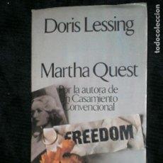 Libros antiguos: F1 MARTHA QUEST POR DORIS LESSING PRIMERA EDICION. Lote 124132067