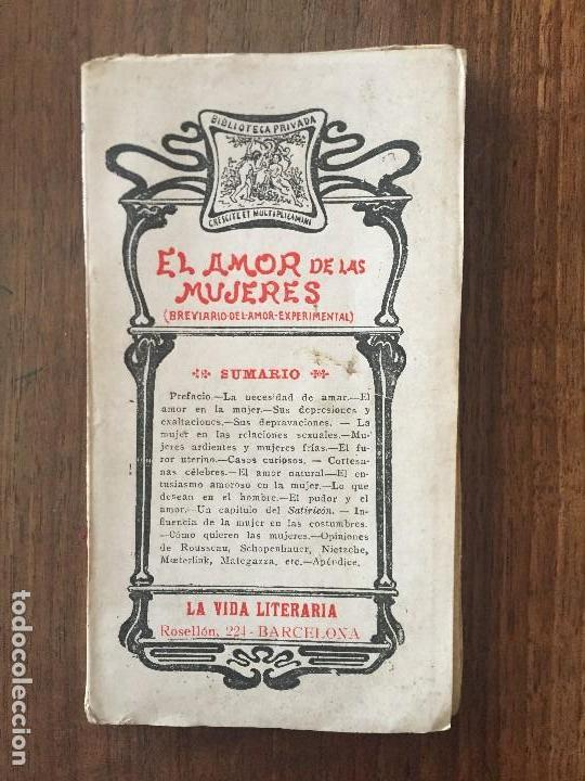 EL AMOR DE LAS MUJERES,ESTUDIO DE FISIOLOGÍA AMATORIA, T. DE R. CLIMENT. LA VIDA LITERARIA (Libros Antiguos, Raros y Curiosos - Pensamiento - Otros)
