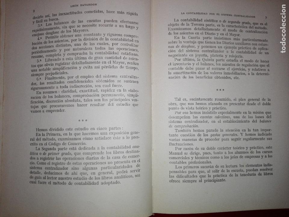 Libros antiguos: LIBRO-LA CONTABILIDAD POR EL SISTEMA CENTRALIZADOR-LEÓN BATARDÓN-BARCELONA-1931-2ªEDICIÓN - Foto 6 - 124151135