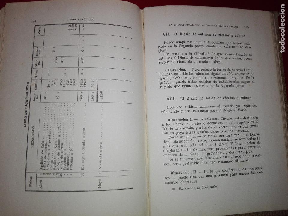 Libros antiguos: LIBRO-LA CONTABILIDAD POR EL SISTEMA CENTRALIZADOR-LEÓN BATARDÓN-BARCELONA-1931-2ªEDICIÓN - Foto 8 - 124151135