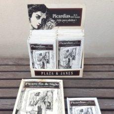 Libros antiguos: LIBRO PÍCARO FIN DE SIGLO EDITORIAL MONTENA + MOSTRADOR DE CARTÓN CON 10 MINI LIBROS TODOS IGUALES. Lote 122696411