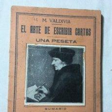Libros antiguos: ANTIGUO LIBRO LIBRETO EL ARTE DE ESCRIBIR CARTAS. Lote 124187487