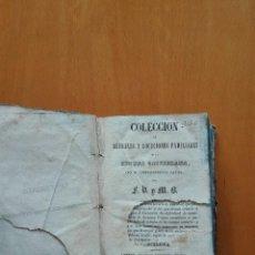 Libros antiguos: COLECCION DE REFRANES Y LOCUCIONES FAMILIARES DE LA LENGUA CASTELLANA... EDIT. JUAN OLIVERES. 1841. Lote 124413011