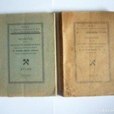 Libros antiguos: APUNTES DE LAS LECCIONES DE LABOREO DE MINAS- CANDIDO GARCIA ALVAREZ- ESCUELA DE MINAS. MIERES. 1936. Lote 124472331