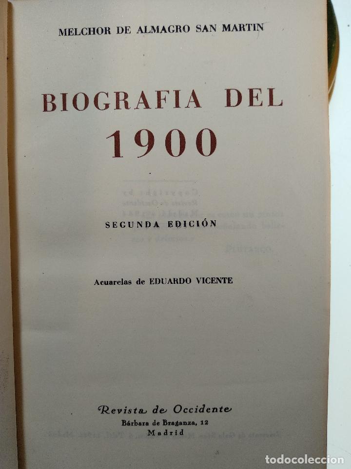 Libros antiguos: BIOGRAFÍA DEL 1900 - MELCHOR DE ALMAGRO SAN MARTÍN - REVISTA DE OCCIDENTE - 1944 - MADRID - - Foto 3 - 124486391