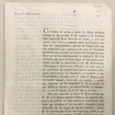 Libros antiguos: [SOBRE SUBSCRIPCIONES DE EMPRÉSTITO Y DONATIVO PARA SOCORRO DEL ESTADO.] - [IMPRESO.] [ORDEN DE SAN. Lote 123266506