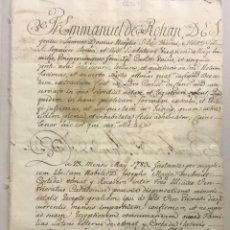 Libros antiguos: [ADMISIÓN DEL HIJO DEL BARÓ DE MALDÀ.] - [MANUSCRITO. ORDEN DE SAN JUAN DE JERUSALÉN.]. Lote 123267230