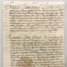 Libros antiguos: [ADMSIÓN DE JOAQUÍN BRU. PRIORATO DE CATALUNYA.] - [MANUSCRITO. ORDEN DE SAN JUAN DE JERUSALÉN.]. Lote 123267238