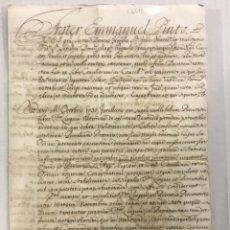 Libros antiguos: [CELEBRACIÓN DE CAPÍTULO PROVINCIAL Y ASAMBLEA.] - [MANUSCRITO. ORDEN DE SAN JUAN DE JERUSALÉN.]. Lote 123267250