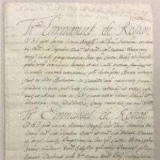 Libros antiguos: [CONCESIÓN DEL CARGO DE GRAN CONSERVADOR.] IGNACIO DESBRULL - [MANUSCRITO. ORDEN DE SAN JUAN DE JERU. Lote 123267274