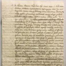 Libros antiguos: [NOMBRAMIENTO DE PROCURADOR.] - [MANUSCRITO. ORDEN DE SAN JUAN DE JERUSALÉN.]. Lote 123267338
