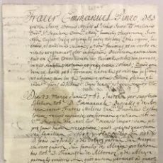 Libros antiguos: [PRUEBAS DE NOBLEZA FAMILIAR POR PARTE DE MANUEL DESVALLS Y DE ARDENA.] - [MANUSCRITO. ORDEN DE SAN. Lote 123267366