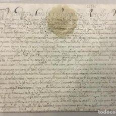 Libros antiguos: [BULA REQUISITORIA DE INFORMACIÓN ACERCA DE OLEGUER TAVERNER.] - [MANUSCRITO. ORDEN DE SAN JUAN DE J. Lote 123267182