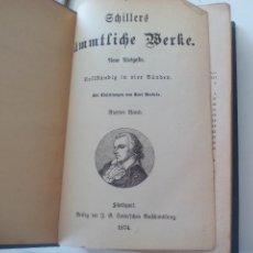 Libros antiguos: SCHILLERS SÄMTLICHE WERKE. NEUE AUSGABE IN VIER BÄNDEN.BIERTER BAND STUTTGART, COTTA 1874. Lote 124938655